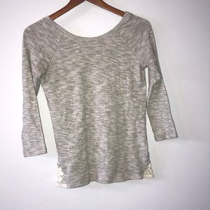 Gray half sleeve top